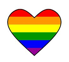 Gay Pride Heart by McArtistic