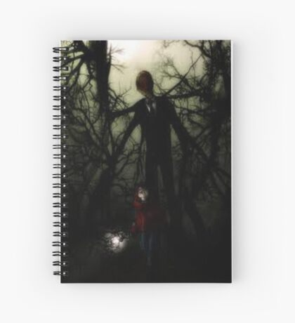 slender man  Spiral Notebook
