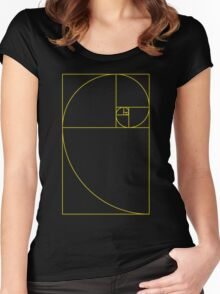 Golden Spiral Sacred Geometry Women's Fitted Scoop T-Shirt