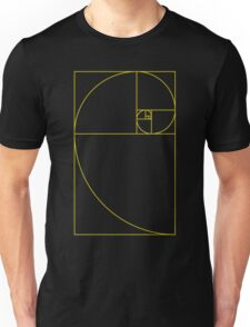 Golden Spiral Sacred Geometry Unisex T-Shirt