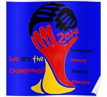 FIFA World Cup Champion Germany Deutschland Glückwunsch Poster