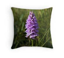 Spotted Orchid, Kilclooney, Donegal Throw Pillow