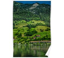 Swiss Summer Countryside Poster