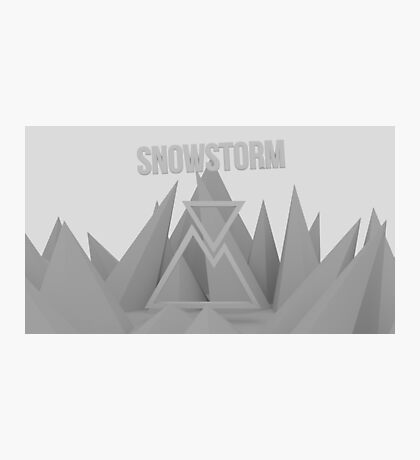 Snowstorm Mountain Photographic Print