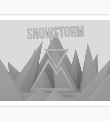 Snowstorm Mountain Sticker