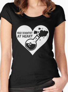 Mad Scientist at Heart Women's Fitted Scoop T-Shirt
