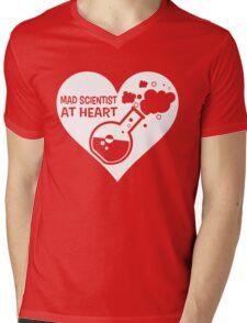 Mad Scientist at Heart Mens V-Neck T-Shirt