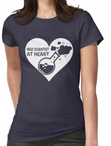 Mad Scientist at Heart Womens Fitted T-Shirt