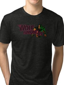 The Wolf Among Us - Logo and Bigby Tri-blend T-Shirt
