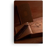 Books and Reading Spectacles Canvas Print