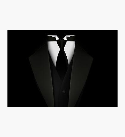 Men's Tuxedo Suit   Photographic Print