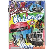 Chicago Collage Watercolor iPad Case/Skin
