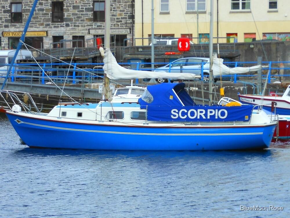 Blue Boat in Stornoway Marina by BlueMoonRose
