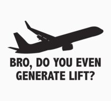 Bro, Do You Even Generate Lift? One Piece - Short Sleeve