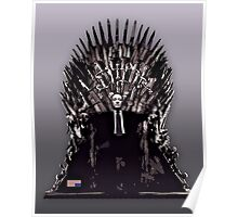 Underwood on the Iron Throne Poster