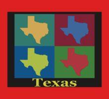 Colorful Texas Pop Art Map T-Shirt