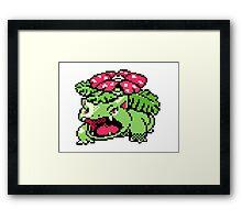 Pokemon - Venusaur Sprite Framed Print