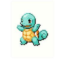 Pokemon - Squirtle Sprite Art Print