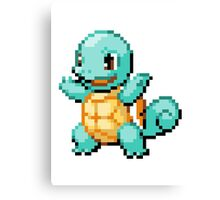 Pokemon - Squirtle Sprite Canvas Print