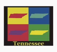 Colorful Tennessee Pop Art Map Kids Clothes