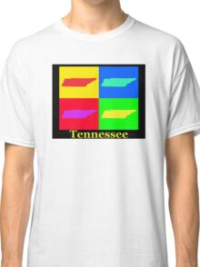 Colorful Tennessee Pop Art Map Classic T-Shirt