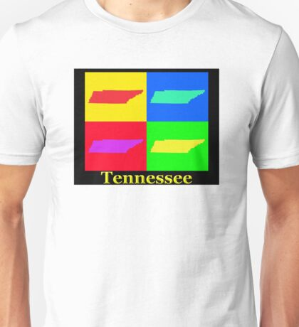 Colorful Tennessee Pop Art Map Unisex T-Shirt