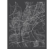 Cairo Map, Egypt - Gray Photographic Print