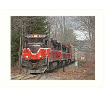 Providence And Worcester # 4004 at Gardner Art Print