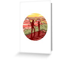 Desert Hikers Greeting Card