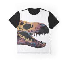 T. Rex Skull Fossil Illustration Graphic T-Shirt