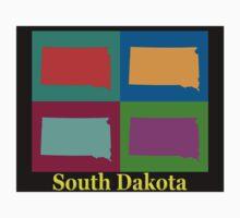 Colorful South Dakota Pop Art Map Kids Clothes