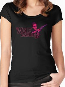 The Wolf Among Us - Logo and Bloody Mary Women's Fitted Scoop T-Shirt