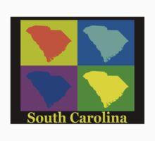 Colorful South Carolina Pop Art Map Kids Clothes