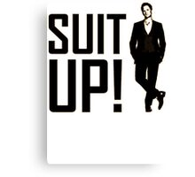 himym Barney Stinson Suit Up How I Met Your Mother Canvas Print