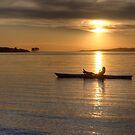 Kayak sunset by Dawne Olson