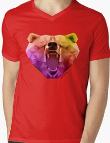 Mr, Bear Mens V-Neck T-Shirt