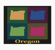 Colorful Oregon Pop Art Map Kids Clothes