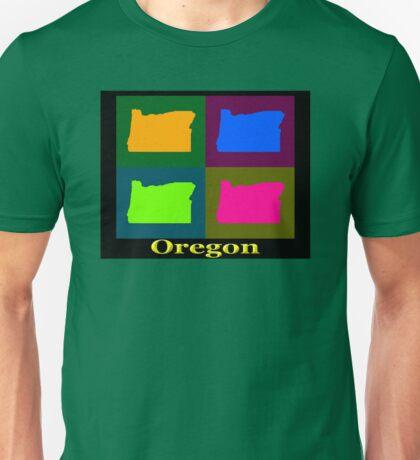 Colorful Oregon Pop Art Map Unisex T-Shirt