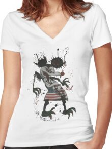 Mickey Mouse - Fear and Loathing - Ralph Steadman Women's Fitted V-Neck T-Shirt