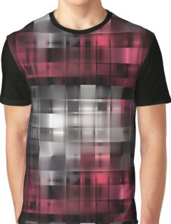 Graphic pattern in black and crimson colours. Graphic T-Shirt