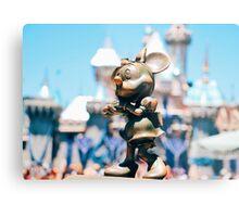 Minnie Mouse with Diamond Castle Background  Metal Print