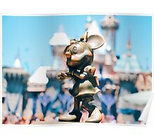 Minnie Mouse with Diamond Castle Background  Poster