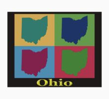 Colorful Ohio State Pop Art Map Kids Clothes