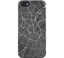 Birmingham Map, England - Gray iPhone Case/Skin