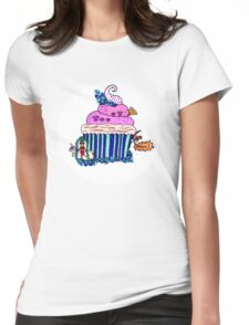Emily Bett - Precious Unicorn Cupcake Womens Fitted T-Shirt