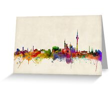 Berlin Skyline Germany Greeting Card