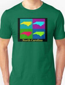 Colorful North Carolina Pop Art Map Unisex T-Shirt