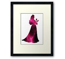 Sleeping Beauty Pink Galaxy Framed Print
