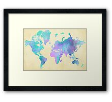 Colouring The World Framed Print