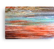Tangerine Dusk - Oil Pastel Canvas Print